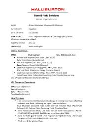 Resume Samples Ece Engineers by Cv Halliburton Format