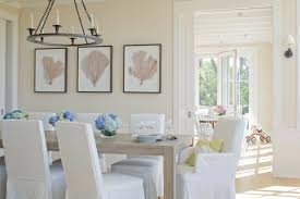 white slipcover dining chair 10 ways a coastal dining room design