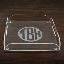 monogrammed serving dishes personalized acrylic trays monogram initials serving tray