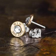 bullet stud earrings bd 380 auto stud earrings brass luckless outfitters