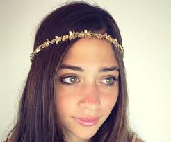 chain headband chain headpiece chain headdress chain gold or a silver