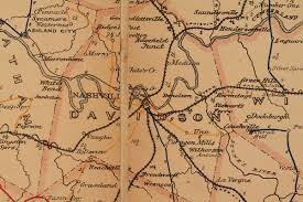 Map Of Tennesse Lot 54 Folding Postal Route Map Of Tennessee 1877