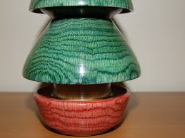 woodturned christmas tree
