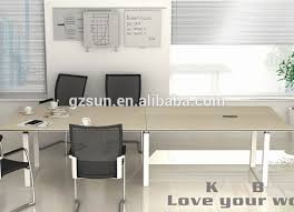 High Top Conference Table Made In Guangzhou China High Reflective White Marble Top