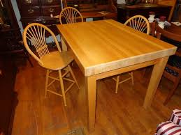 Butcher Block Kitchen Table And Chairs Marceladickcom - Butcher block kitchen tables and chairs