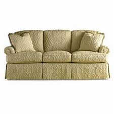 Traditional Sofa Sherrill Traditional Sofa With Loose Cushion Back And Round Panel