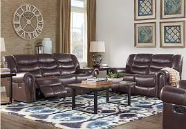 livingroom pc sky ridge mahogany 5 pc leather living room leather living rooms