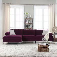 purple sofas loveseats and chaises ebay