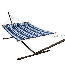 island bay 13 ft nautical quilted hammock hayneedle