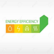vector logo energy efficiency diagram of growth of energy