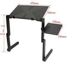 lighted laptop desk tray portable folding laptop table adjustable computer notebook stand