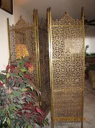oriental design room divider along with gold colour divider with