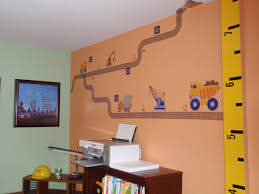 construction themed toddler boy u0027s room 3d wall art mighty