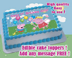 edible print peppa pig birthday cake toppers edible print sugar sheet