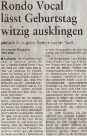 Metzler Bad Neuenahr Acappella Quintett Rondo Vocal Modernes Chor Entertainment