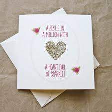 gold u0027heart full of sparkle u0027 best friend birthday card by be good
