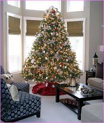 Blue Christmas Trees Decorating Ideas - silver and red christmas tree lizardmedia co