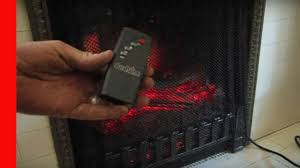electric fireplace remote controls youtube