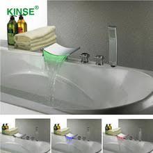 Contemporary Bathtub Faucets Popular Led Bathtub Faucet Buy Cheap Led Bathtub Faucet Lots From