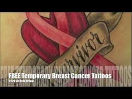 breast cancer ribbon tattoos lots of ideas youtube
