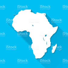 Angola Africa Map africa map on blue background long shadow flat design stock vector