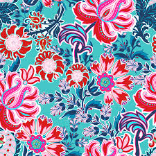 bohemian floral paisley in turquoise pink and red wallpaper