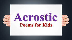 acrostic poem examples for kids youtube