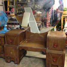 Antique Vanity Table With Mirror And Bench Antique White Vanity Set Indonesian French Furniture Teak Antique