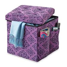 sit and store folding storage ottoman bed bath u0026 beyond