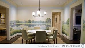 Conventional Dining Rooms With Wallpaper Murals Home Design Lover - Dining room mural