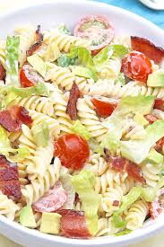 blt pasta salad with avocado u2014 the fountain avenue kitchen