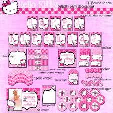 hello kitty party printable collection mimi u0027s dollhouse