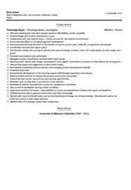 Sample Buyer Resume by Trimmings Buyer Resume Sample Velvet Jobs