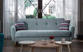 light blue sofa bed zigana light blue sofa bed in fabric by istikbal w options