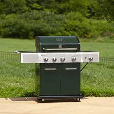 Backyard Grill 4 Burner by Kenmore 4 Burner Lp Green Gas Grill W Searing Burner U0026 Side Burner