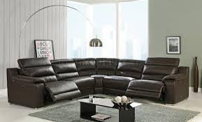 Reclining Sectional Sofa Elda Reclining Sectional Sofa In Beige Leather By At Home Usa