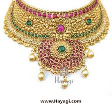 bridal choker necklace images Bridal choker necklace set online flower design necklace hayagi jpg