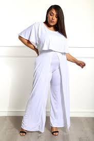 white plus size jumpsuit always right plus size jumpsuit dresses gs
