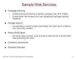 swe internet u0026 web application development web services