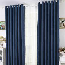 Blue Curtains Bedroom Modern Linen Cotton Blue Blackout Bedroom Curtains