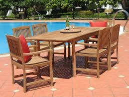 7 Pc Patio Dining Set - pebble lane living 7 piece teak patio dining set patio table