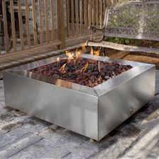 Outdoor Firepit Kit Gas Pit Kit Rectangle In Wondrous Wood Also Stoned