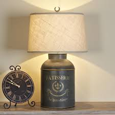 french canister table lamp i would love this on a kitchen