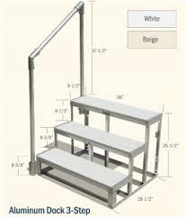 g u0026h marine aluminum dock 3 step w railing white
