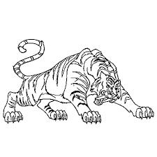 tigre à dents de sabre en ligne gratuit à imprimer