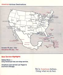 American Airlines Route Map by American Airlines American Airways