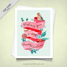 christmas cards in watercolor watercolor christmas card with a bird in watercolor style vector