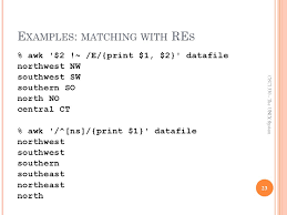 pattern matching using awk exles csci 330 the unix system awk the bash shell ppt video online download