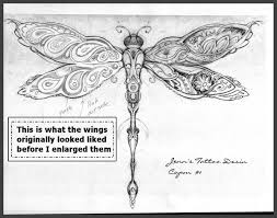 dragonfly paisley tattoo design by christopher eisert artwanted com