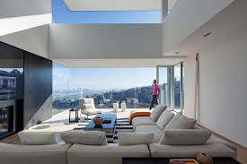 Contemporary Homes Interior by A House Perched On The Hills Overlooking Los Angeles Contemporist